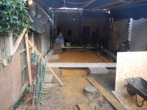 Deep pad footings – Kitchen Extension in Ealing W5