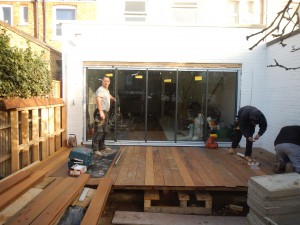 Decking and slide and pivot doors – Ealing W5