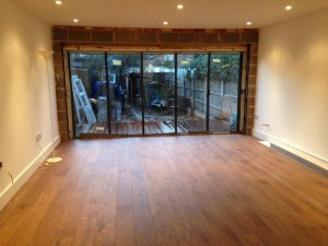 Wood floor down in Ealing W5