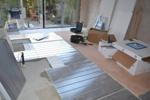 Underfloor heating – Kitchen Extension Chiswick W4