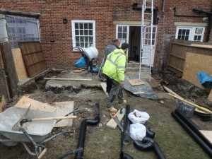 Footings Dug and Concrete Poured at this Extension in Putney SW15