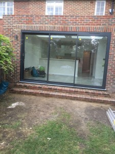 Aluminium doors supplier at our Putney SW15 kitchen extension
