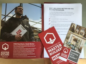 Federation of Master Builders – New rebrand pack arrived to the office today
