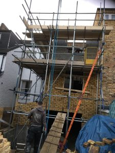 Rear extension in Fulham SW6 starting to take shape…
